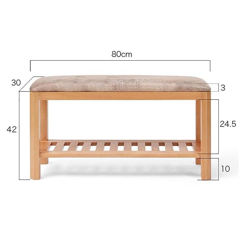 蜜付き添い人虫靴のベンチを変更 - 木製の靴革張り収納ラック - 入り口の廊下の靴ラック (Size : 80*30*42cm)
