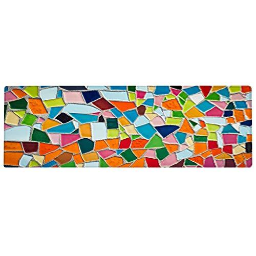 Vloermat, kleurrijke antislip vloermat, deurtapijt Home Mat tegelblokontwerp voor slaapkamer keuken(60 * 180CM)
