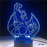 Solo 1 artículo Lámpara 3D de dibujos animados USB Night Light Multicolor Bombilla de iluminación LED Kid toy Gift 3
