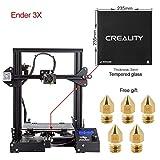 Comgrow Creality 3D Imprimante 3D Ender-3X avec Plaque en Verre Trempé et Cinq Bus 220 * 220 * 250 Taille d'impression