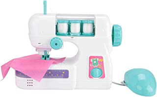 Mini Juguete eléctrico de la máquina de Coser, plástico para niños en el Interior Pretende Juguetes Juguete Educativo Tempranas cogniciones Juego de rol con Accesorios para niños pequeños