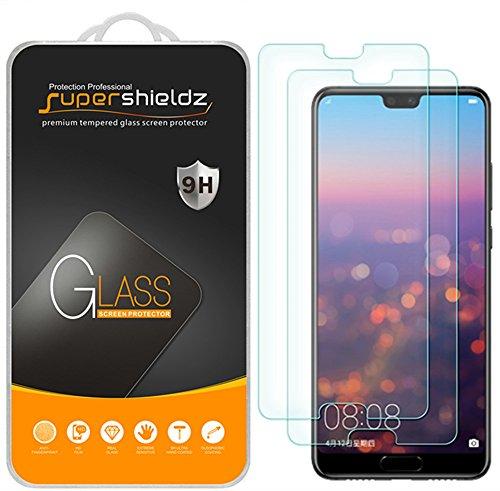 Supershieldz Protector de pantalla de vidrio temperado para Huawei P20, antiarañazos, sin burbujas, 2 unidades