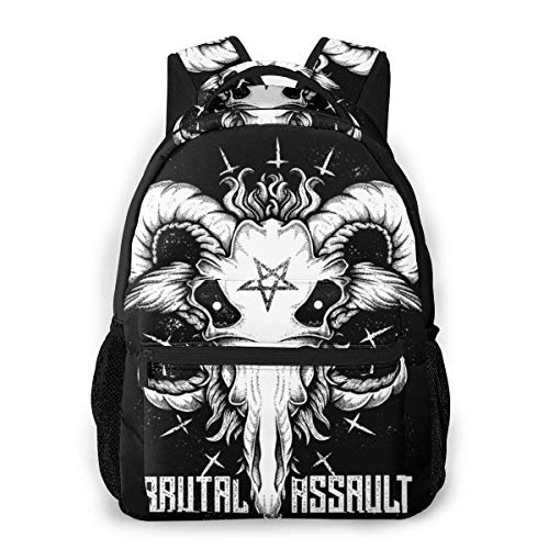 Lawenp Casual Backpack Brutal Assault Art Casual Backpack,Backpack Gift for Men and Women,Multifunctional Backpack,Laptop Backpack