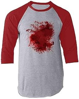 Blood Splattered Horror Bloody Halloween Costume Raglan Baseball Tee Shirt