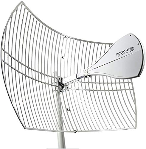 Bolton Technical Long Ranger Antenna | 2021 Parabolic - Over 10 Miles Range | All Cell Bands: 5G, 4G, LTE | WiFi 2.4/5 GHz WiFi 6 | High Gain Cellular/WiFi Antenna up to +28 dB | All Carriers
