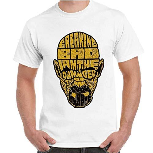 BIANCOLTelefilm Breaking Bad Heisenberg T-Shirt Uomo Bambino Manica Corta