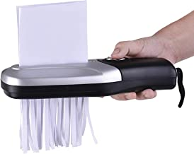 $37 » PANXIAO Portable Handheld Paper Shredder Cutter A6 Folded A4 Strip Cut USB/Batteries Operated Cutting Machine for Home Office School