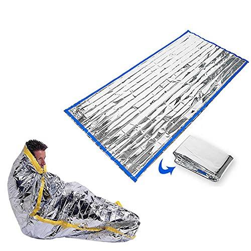 woyada Saco de dormir de emergencia al aire libre, campos de fusión de terremoto de montañismo, manta reutilizable de primeros auxilios, 213 x 91 cm