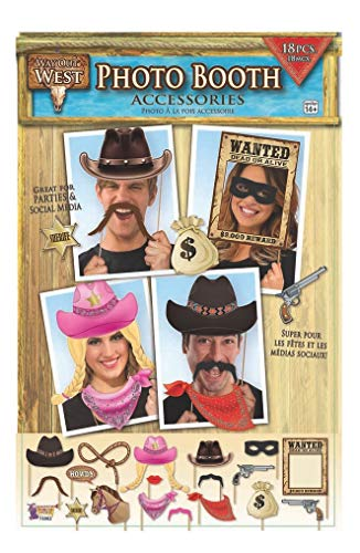 Forum Novelties X75902way out West photo booth, multicolore, taglia unica
