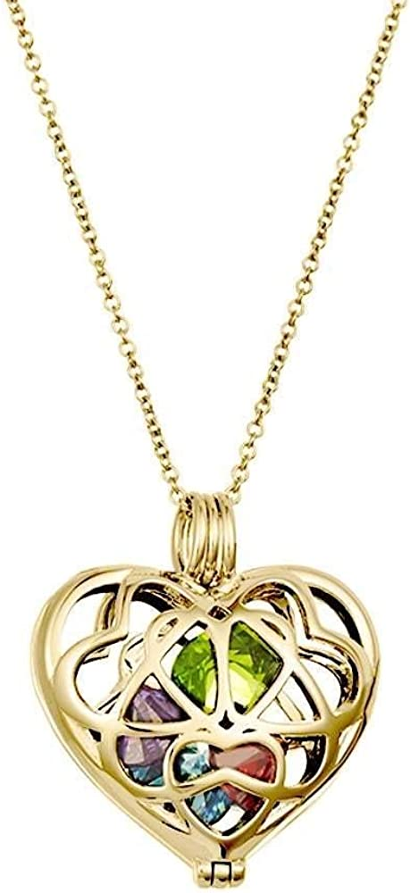 Gold Plated Personalized 6mm Round Ca Heart New Orleans Mall Birthstone Jacksonville Mall Simulated