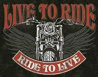なまけ者雑貨屋 Live to Ride - Bike ブリキ看板 アメリカン 壁掛けプレート レトロ雑貨 インテリア
