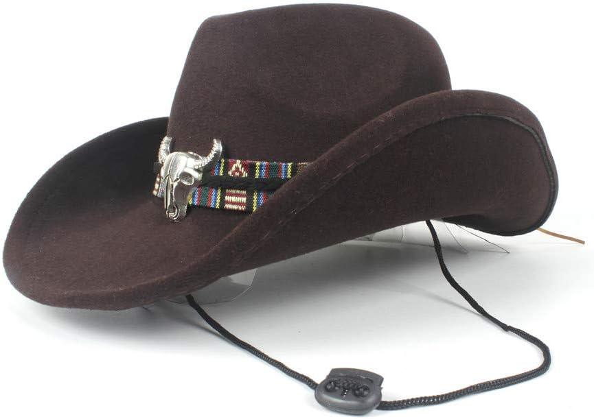 HHHCM-US Women Men Unisex Hollow Cowboy New Free Shipping Over item handling Hat Gentlema for Western