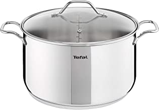 Tefal Intuition V2 - Stockpot 28 with Lid,Silver, A7026485, Stainless Steel