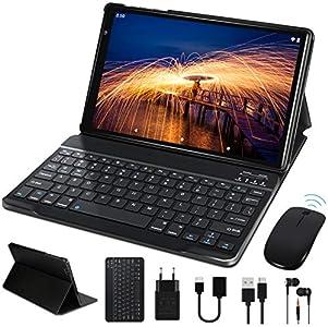 Tablet 10 Pulgadas FACETEL Q3 Android 10.0 4GB de RAM y 64 GB de ROM,5MP 8MP Cámara Tablet PC,Certificación Google GMS - Octa Core   8000mAh   WiFi   GPS   Bluetooth   Type-C-Negro