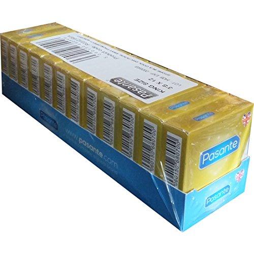 Pasante King Size, extra große Kondome mit 60mm Breite und 200mm Länge - ideal für Männer, die mehr Platz brauchen, 12 x 3 Stück