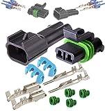 Delphi Metri-Pack 280 Series 2-Way Connector w/16-18 AWG Sealed Waterproof Set