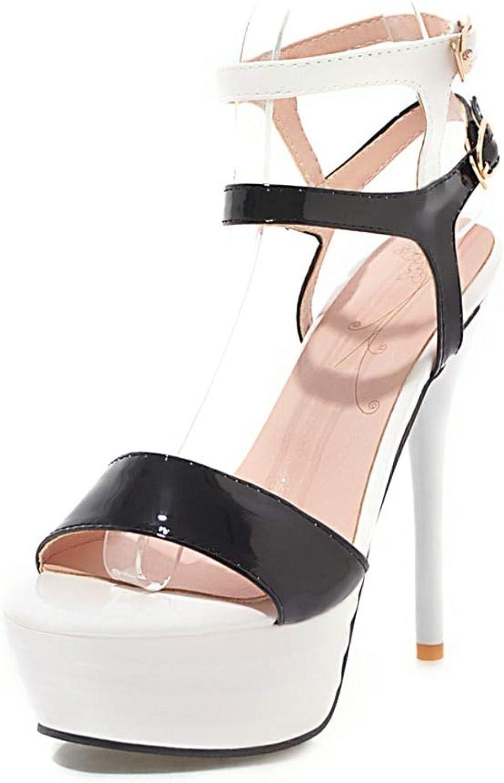 HOESCZS 2018 Große Größe 32-43 Sommer Knöchelriemen Sandalen Damenschuhe super dünne High Heels Marke Party Schuhe Frau,  | Moderate Kosten