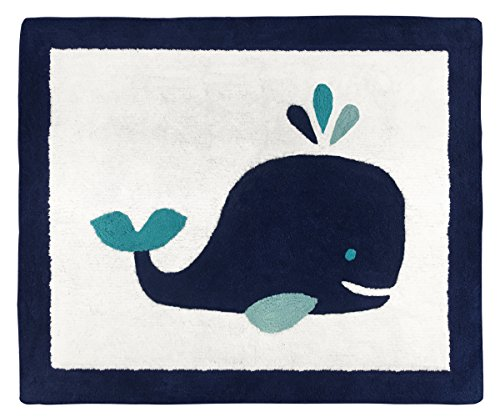 Boy or Girl Accent Floor Rug Bedroom Decor for Blue Whale Kids Bedding Collection