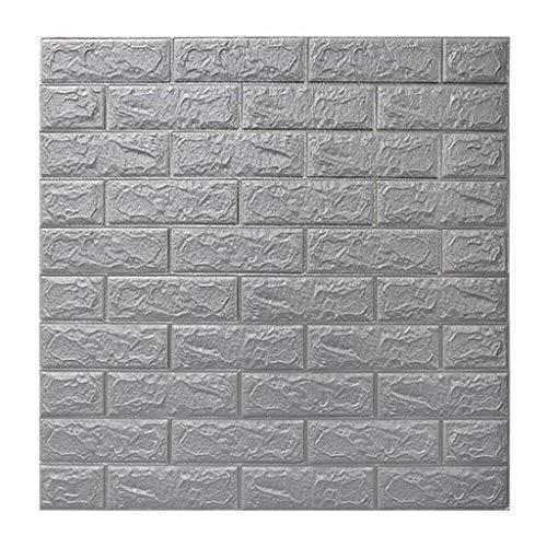 CN Cover 3D Imitation Brick Wandaufkleber, DIY wasserdichte Selbstklebende Dekorative Tapete 70Cmx77cm, 3D Brick Wallpaper Für Wohnzimmer, Schlafzimmer, Home Office (10PCS)