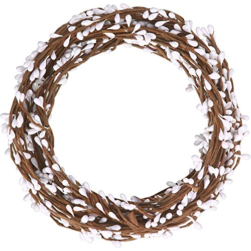 64 Feet 30 Packs Ply Pip Berry Garland for Christmas Winter Indoor Outdoor Decor Head Wreaths Wedding Crowns (Red)