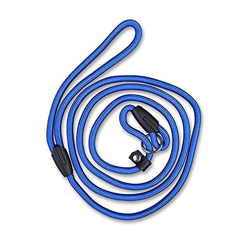 Mascota Correa para Perros Cuerda Nylon Correa Ajustable Correa para Perros Correa para Perros Cuerda Tracción Arnés para Perros Collar Correa, Azul, L
