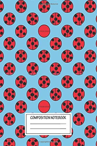 Notebook: Miraculous Pattern It's Ladybug Wide Ruled , Journal for Writing, Size 6