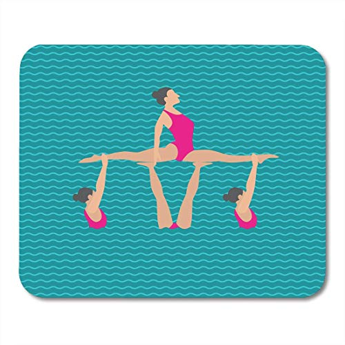 Muispads Active Blue Synchro van In The Womens synchroon zwemmen flat stijl White Action Mouse Pad voor volwassenen