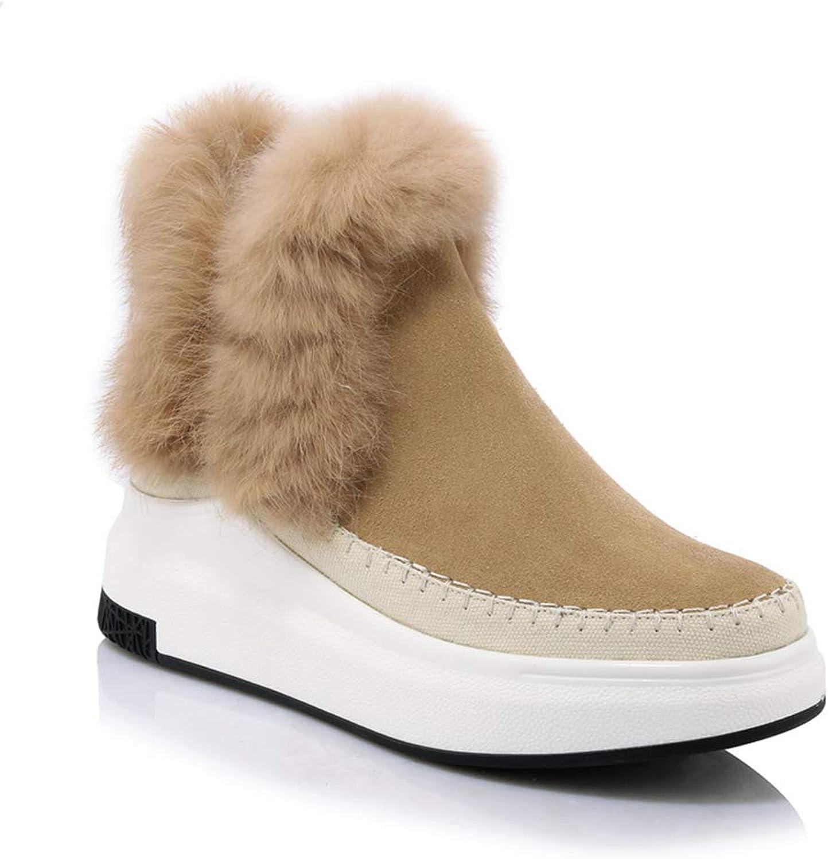Winter Keep Warm Snow Snow Snow stövlar kvinnor Round Toe Ankle stövlar for kvinnor mocka Comfortable Ladies Casual skor  uppkopplad