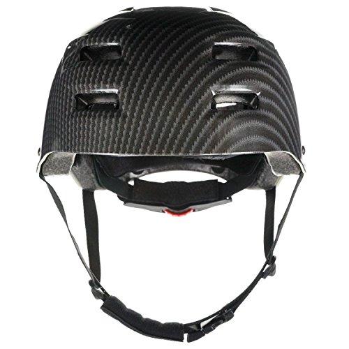 Skullcap® BMX Helm - Skaterhelm - Fahrradhelm - Herren Damen Jungs & Kinderhelm, schwarz-grau, Gr. M (55 – 58 cm), Carbon