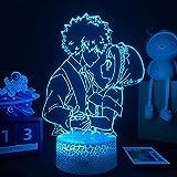 3D Led Luz De Noche Luz De Acrílico Ilusión Luz Anime My Hero Academy Para Decoración De Dormitorio Niños Familia Familia Regalo Cómico Gadget Usb Toque