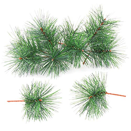 Baker Ross AV895 gałązki sztucznej sosny — Kreatywne ozdoby świąteczne i rzemieślnicze do projektów i dekoracji dzieci (20 szt.)