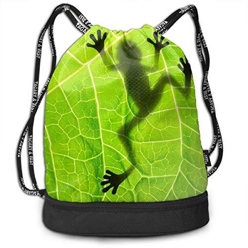 Ovilsm Sacs de Sport,Sacs /à Cordon,Eco-Friendly Cheshire Cat Smile Pattern Drawstring Bag Rucksack Shoulder Bags Travel Sport Gym Bag Print Yoga Runner Daypack Shoe Bags with Zipper and Pockets