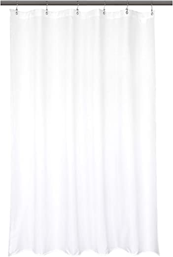 """Waterproof Fabric Stall Shower Curtain Liner 32"""" W x 72"""" H - Hotel Quality, Machine Washable, White Shower Liner for Narrow Bathroom, 32x72"""