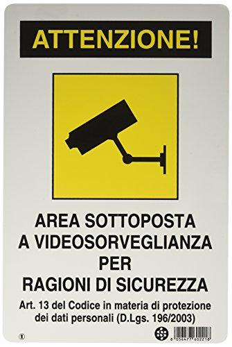 GRUPPO STAMPLAST SPA 27783 Cartello segnaletico in Alluminio Area Video sorvegliata