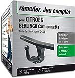 Rameder Attelage démontable avec Outil pour CITROËN BERLINGO Camionnette + Faisceau 7 Broches (128840-06732-1-FR)
