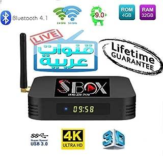 SS Box HD Arabic 4K IPTV Receiver Lifetime Subscription for 4500 Plus Global Channels رياضة مسلسلات وافلام عربية وعالمية افضل تلفزيون عربي من غير دفعات شهرية
