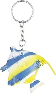 ميدالية مفاتيح على شكل سمك من توي ميجور - اصفر وازرق