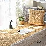 ZTMN Bay Window Pad/Windowill Mat, Fundas de sofá de Felpa Gruesa Cojín de la Ventana Bay Cojín de los Asientos de la Almohadilla del alféizar Tatami-B Simple Antideslizante 90x160cm (35x63 pul