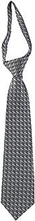Boys' Gray Patterned Zipper Tie