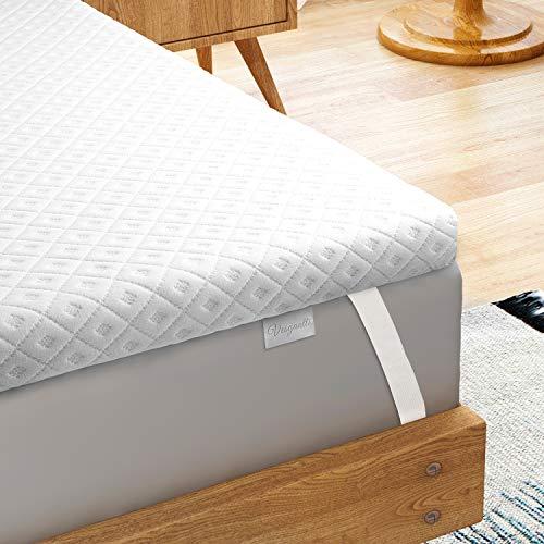 Vesgantti Matratzentopper 100 x 200 cm, Memoryschaum Matratzenauflage, 5 cm Memory Foam Matratzenauflage, Bed Topper mit Gel Memory Foam und waschbarem Bezug