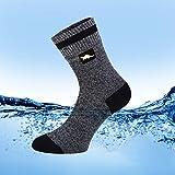 OTTER wasserdichte atmungsaktive Socken Geeignet für Outdoor-Aktivitäten wie Radfahren Bergwandern und Wandern Die Coolmax (Dunkelgrau Groß (43-46)