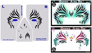 Face Painting Stencil - StencilEyes Queen A-Nu Ra - Fantasy Face