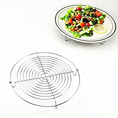 Wire Steamer Kettle Rack Holder Fit For All Pots Pans Up To 4L Cookware Easy Cooking Steaming Vegetables Foods (Small-Dia 5inch)
