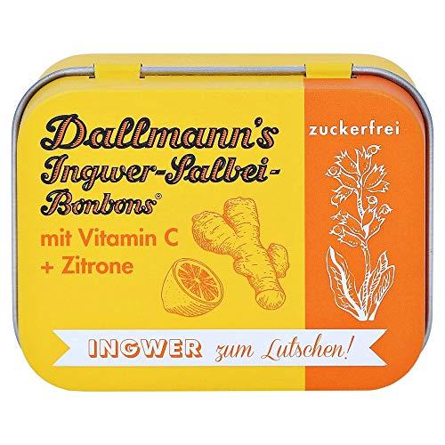 DALLMANN'S Ingwer-Salbei Bonbons o.Z.in der Dose 46 Gramm