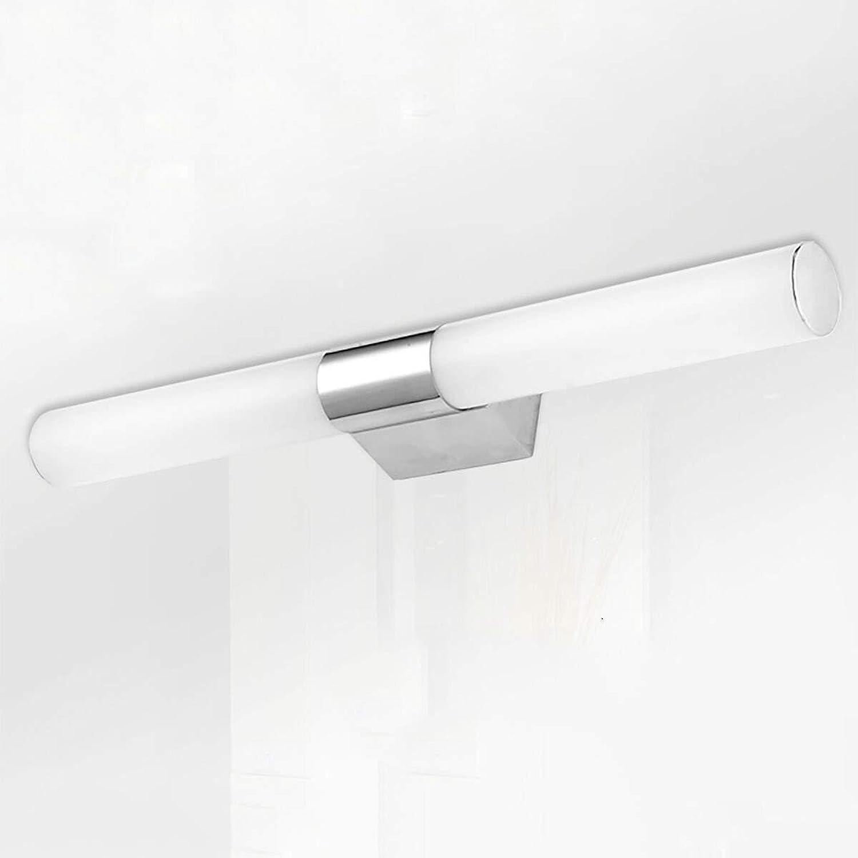 LED Edelstahl Damp-proof Spiegel vorne Licht moderne Schlafzimmer Badezimmer Spiegelschrank Beleuchtung Wandmontage Schminkspiegel (Farbe  warmes Licht-46cm-10W)