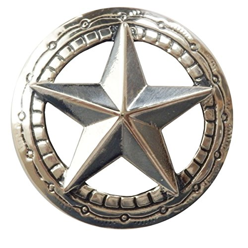 コンチョ シルバー 色 直径30mm 星 スター インディアン zw-starconcho1 ZIVAGO