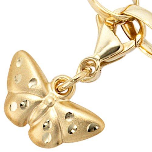 Colgante de mariposa de oro mate colgarse de 333 Charms Dangle