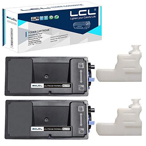 LCL Cartucho de tóner Compatible TK-3160 TK3160 1T02T90NL0 (2 Negro) Reemplazo para Kyocera Ecosys P3045n P3045dn M3145dn P3050dn P3055dn P3060dn