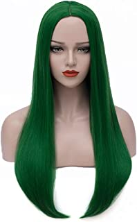 Bopocoko Long Green Wigs for Women 27'' Long Straight Hair Wigs Halloween Costume Wigs Cosplay Wig for Girls BU157GR