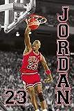 Close Up Michael Jordan NBA Poster 23 Slam Dunk (61 cm x